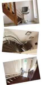 Einbaubeispiele Treppenlift